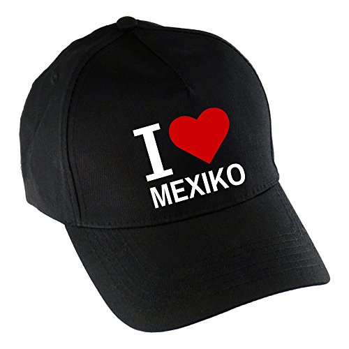 I Love Mexiko schwarz (Mexiko-baseball-cap)