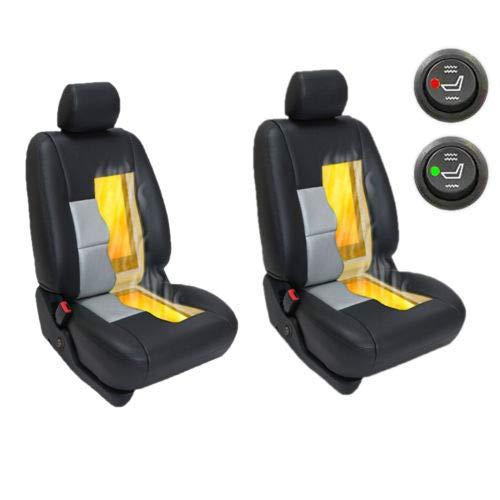 Sfeomi Auto Universal Carbon Sitzheizung 12V Auto Heizkissen Heizauflage 2 Sitze beheizbare Sitzauflage 2 Stufe Schalter Car Seat Heater Kits für Auto Haus