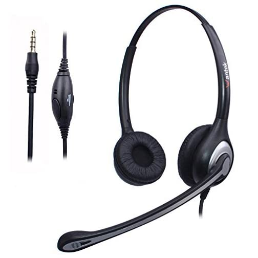 Wantek Cuffie USB Stereo con Microfono a Cancellazione del Rumore e  Controllo del Volume e6afd4fd84fb