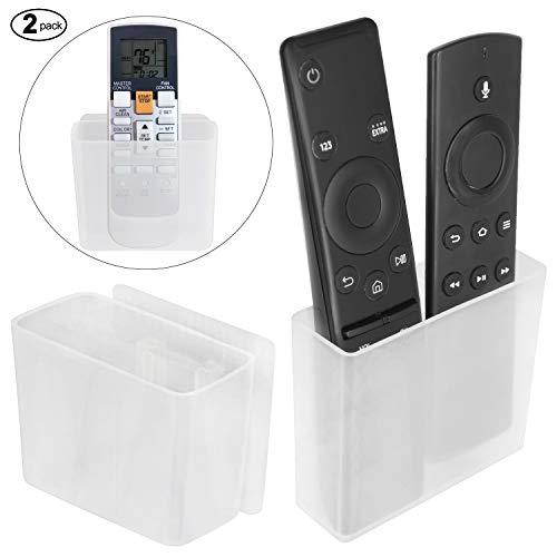 Pinowu Universelle Halterung für eine TV Fernbedienung (2 Stück), Wandhalterung Tischhalter Aufbewahrungs Kasten für Klimaanlage Fernbedienung