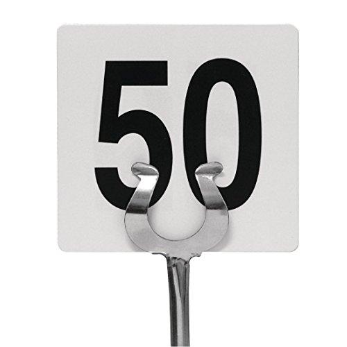 numéros de table 1-50 95 x 100 mm Mariage Pubs clubs de restaurant Cafe Bar