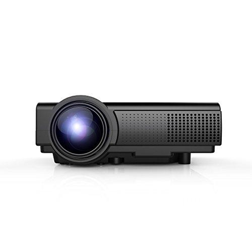 TENKER Q5 LCD Mini Beamer, 1500 Lumen, Schwarz (100 Smart Tv Zoll)