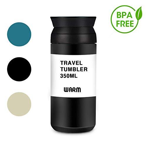 LIUMY Thermobecher Isolierbecher Kaffee to go Travel Mug Edelstahl 360 ml Doppelwandig vakuumisolierter Kaffee und Tee zum Mitnehmen Autobecher