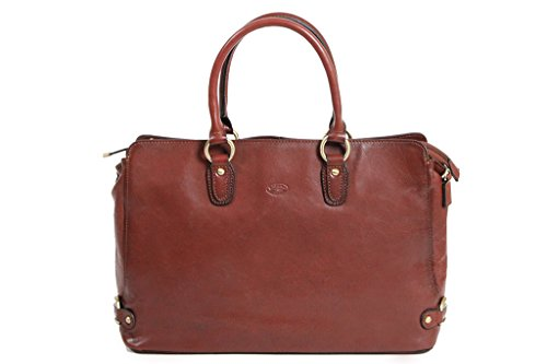 Sac shopping Katana Cuir de Vachette Collet K82618 Marron