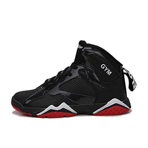 Männer Basketball Schuhe High Top Kissen Sneakers Outdoor Sport Leder athletische KnöchelStiefel Trainingsschuhe