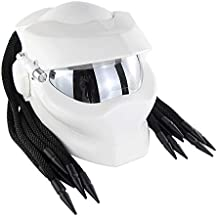 ZHYY Jagged Warrior Predator Cascos integrales D.O.T Certified Motorcycle Riding Harley Retro Scorpion Mask A Campo