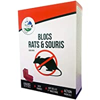TERRA NOSTRA Blocs/Raticide/Souricide/Souris/Anti-Rat, Rouge