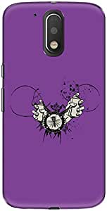 The Racoon Grip printed designer hard back mobile phone case cover for Motorola Moto G Play 4th Gen. (Purple Spr)
