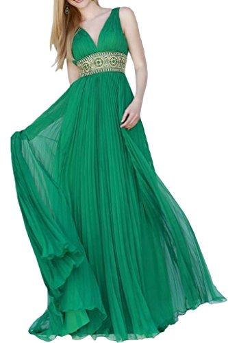 ivyd ressing Femme Strass Ceinture a ligne Prom robe robe de bal robe du soir Vert