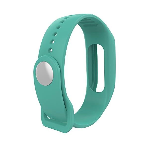 TomTom Touch Correa de reloj de silicona, correa de repuesto para TomTom Touch Cardio, rastreador de actividad deportiva… 3