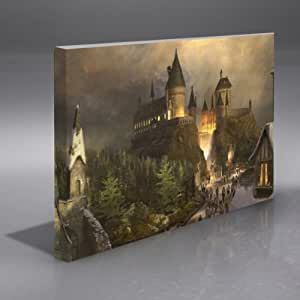 """HARRY POTTER HOGWARTS BOXED FRAMED A1 CANVAS ART PRINT 30""""X20"""" SALE LIMITED TIME"""