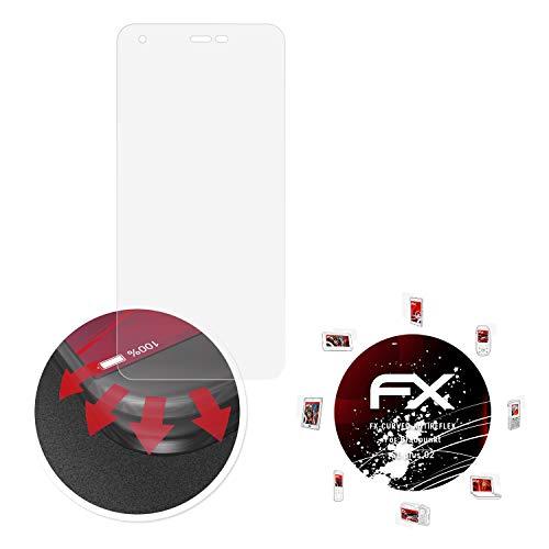 atFolix Schutzfolie passend für Blaupunkt SL Plus 02 Folie, entspiegelnde & Flexible FX Bildschirmschutzfolie (3X)
