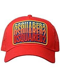 0658cff98f6 Dsquared2 - BCM0103 Logo Patch Casquette Baseball en Rouge