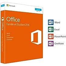 Microsoft Office Famille et Etudiant 2016 | 1 PC | Box