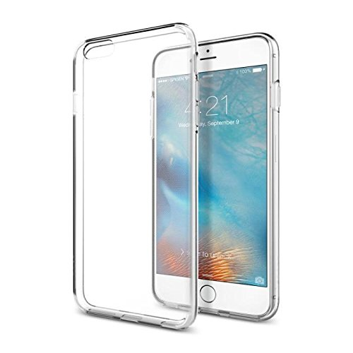 Custodia iphone 6 plus, spigen custodia iphone 6s plus [cover silicone gel] **liquid crystal** [crystal clear] forma morbido, cover iphone 6 plus, cover iphone 6s plus (sgp11642)