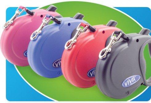 ancol-viva-extendable-lead-small-medium-large-black-blue-raspberry-red