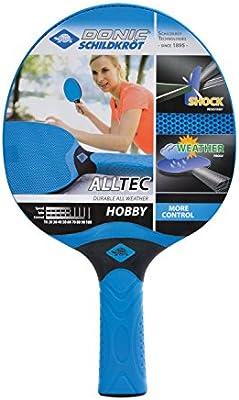 Donic-Schildkröt 733014 Alltec Hobby - Raqueta de ping-pong (impermeable, talla única), color negro y gris