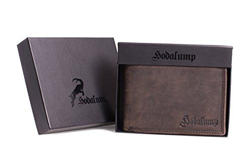 Geldbörse für Herren aus Leder mit 100% Zufriedenheitsgarantie | Geldbeutel / Portemonnaie in Geschenkbox | Geschenke für Männer | Wallet / Portmonee / Brieftasche im Querformat - BRAUN - 6
