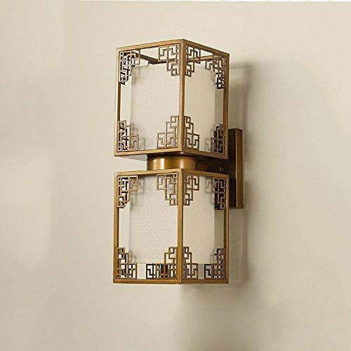 FUFU Moderne einfache Wandleuchte für Retro-Hotel-Schlafzimmer Nachttisch-Wandleuchte (Farbe : Bronze, größe : 21cm*46cm)
