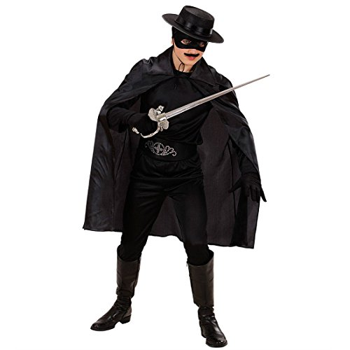 NET TOYS Kinder Zorro Cape Batman Umhang schwarz Robin Umhangmantel Graf Mantel Vampir Kostüm Halloween Vampirumhang