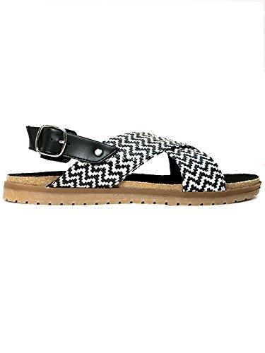 Will's Vegan Shoes Huarache footbeds Black & White-3 UK/36 EU/5 US