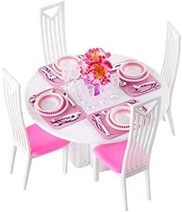 ISO TRADE Puppenhaus Möbel Möbelset Esszimmer Esstisch Stuhl 38 teilig 8248