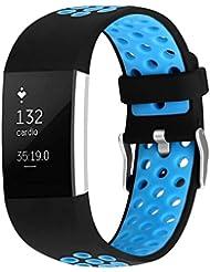 Ersatz Fitbit Charge 2 Armbänder, Klassisch Sport Armband für Fitbit Charge 2