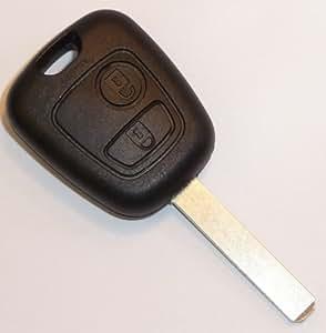 telecommande plip coque citroen cle c1 c2 c3 c4 c5 2 boutons auto et moto. Black Bedroom Furniture Sets. Home Design Ideas