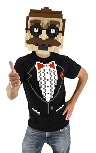 stume Pixel Man Mask (8-bit-halloween-spiele)
