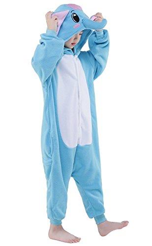 Kenmont Bambini Unicorno Pigiama Animale Kigurumi pigiamas Cosplay Costumi Tuta Carnevale Halloween Natale Camicie da Notte Elephant