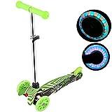 Profun Trottinette Enfants Scooter 2 Pieds 3 Roues Pliable Kick Air Push Slider Wiggle Trike Striker Drifter Trottinette pour Les Garçons/Filles/Enfants de 5 Ans + (Type1 Vert)