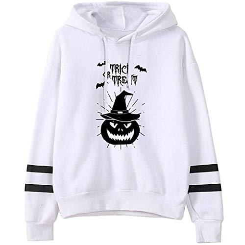 Kostüm Freundin Cute Freund - kolila Halloween Kapuzenpullover Sale Damen Casual Halloween Print Streifen Langarm Kordelzug Hoodie Sweatshirt Tops