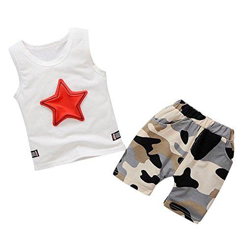 Allence Sommer Baby Jungen Kleidung Shorts Sets Cartoon Tier Printed Sleeveless Weste Top + Tarnung Shorts Hosen Lässige Outfits Kleidung - Tier-haut-teppich