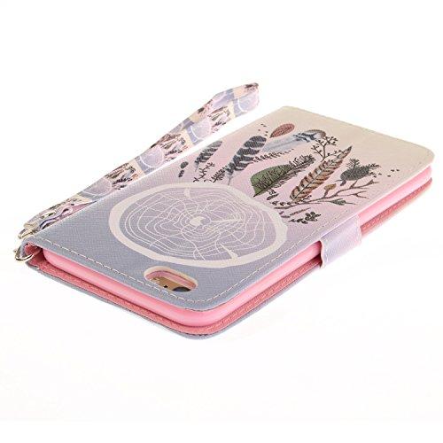 Custodia iPhone 6 Plus / 6S Plus Cover ,COZY HUT Flip Caso in Pelle Premium Portafoglio Custodia per iPhone 6 Plus / 6S Plus, Retro Animali di cartone animato Modello Design Con Cinturino da Polso Mag Campane a colori