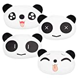 RETON 4 Piezas Lindo Cuello Almohada Panda Felpa Cojín Auto de la Ayuda del Cuello del reposacabezas del Coche