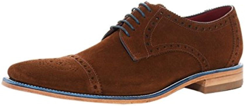 Loake Foley Mens Formale Spitzen Sich Schuhe 8.5 UK/43 EU Braun Wildleder