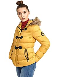 0d62a3e34b0 Brave Soul - Chaqueta - para Mujer Mustard Yellow Brown 36