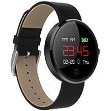 LCD Deporte Sleep Rastreador ritmo cardíaco FITNESS podómetro pulsera reloj inteligente, negro