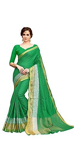 Saree Center Women's Jecard Saree With Blouse Piece Material