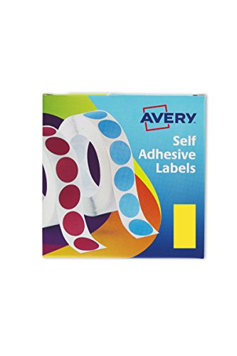 Avery UK 25 mm x 50-Etiqueta rectangular con dispensador, color amarillo