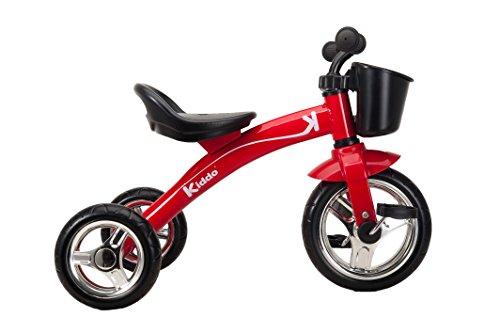 Image of Kiddo Red 3 Wheeler Smart Design Kids Child Children Trike Tricycle Ride-On Bike 2-5 Years New (Red)