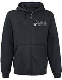 Game of Thrones House Stark Sweat à capuche zippé noir