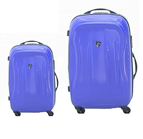 Kofferset, Gepäckset, Reisegepäck by Heys - Premium Designer Hartschalen Kofferset 2 TLG. - Crown Superlite Blau Handgepäck + Koffer mit 4 Rollen Medium