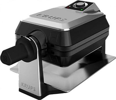 Krups FDD95D A12 - Gofrera (1400 W), color acero y negro de Krups