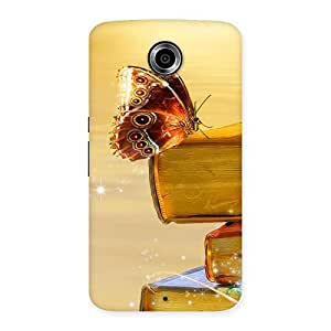 Book Butterfly Back Case Cover for Nexsus 6