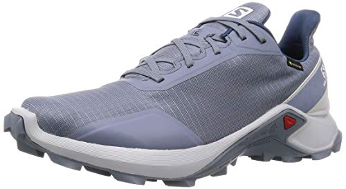 Salomon Alphacross GTX, Zapatillas de Trail Running para Hombre, Azul Flint Stone Pearl Blue Sargasso...