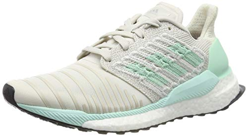 96232792b79 adidas Damen Solar Boost W Laufschuhe Weiß Raw White Clear Mint Active  Purple