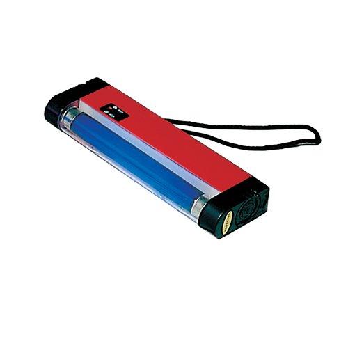 SAFE 1045 UV POCKET Lampe für Banknoten - Prüfgerät mit 4 W UV Röhre 366 nm - Ideal zum prüfen von Briefmarken Geldscheinen Aktien - Optimal für jede Kasse oder Kassenbereich