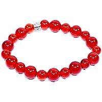 Bracelet Carnelian 10MM + 8 MM Birthstone Handmade Healing Power Crystal Beads preisvergleich bei billige-tabletten.eu