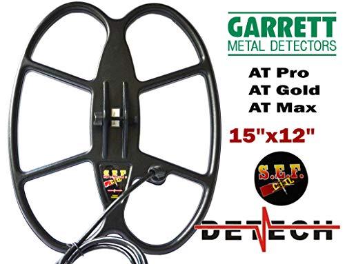DETECH 15×12Ω S.E.F. Butterfly-Suchspule für Garrett at Pro, at Gold und at Max Metalldetektoren mit Spiralabdeckung im Lieferumfang enthalten